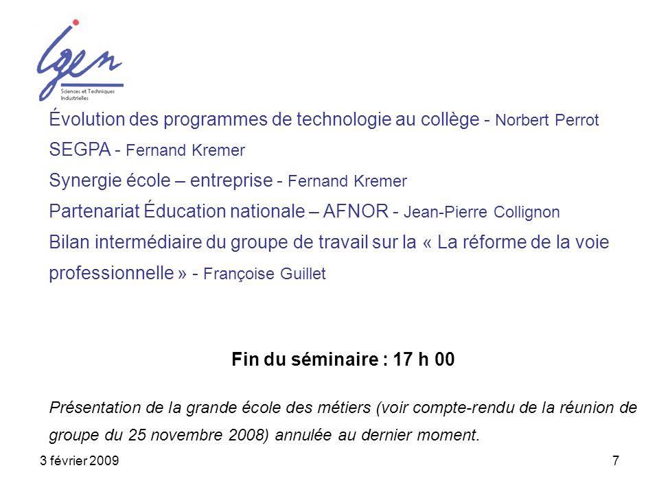 Évolution des programmes de technologie au collège - Norbert Perrot