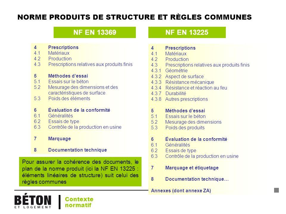 NORME PRODUITS DE STRUCTURE ET RÈGLES COMMUNES