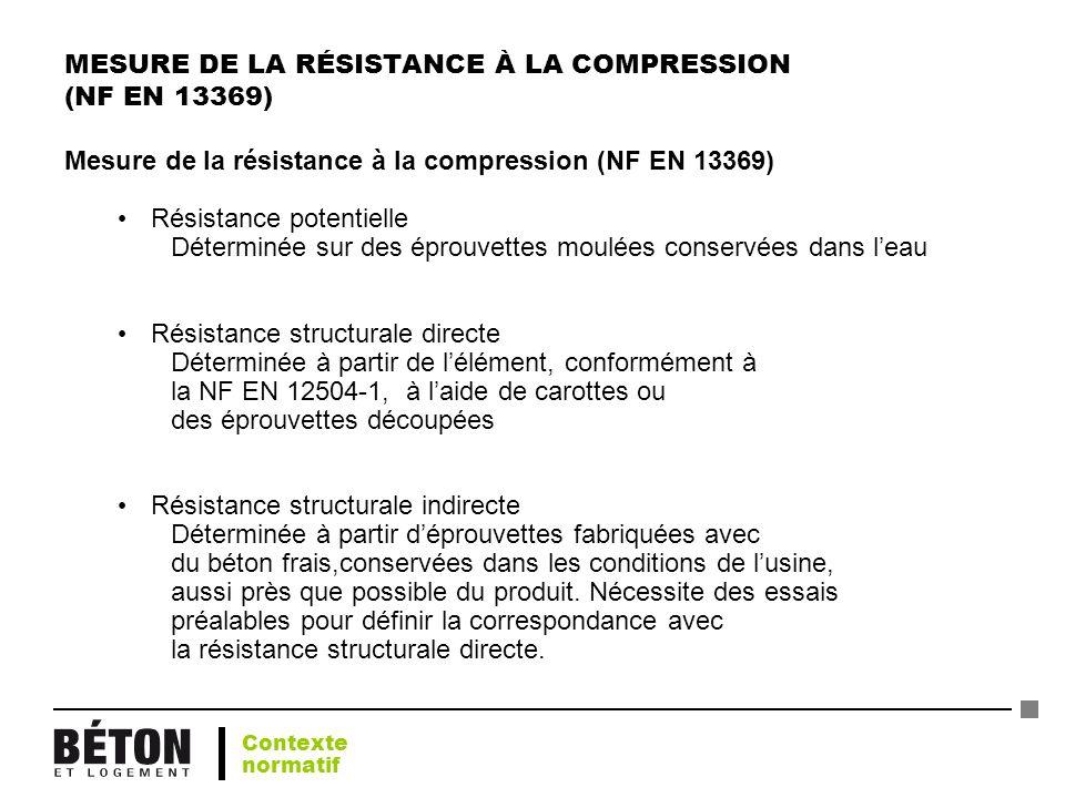 MESURE DE LA RÉSISTANCE À LA COMPRESSION (NF EN 13369)