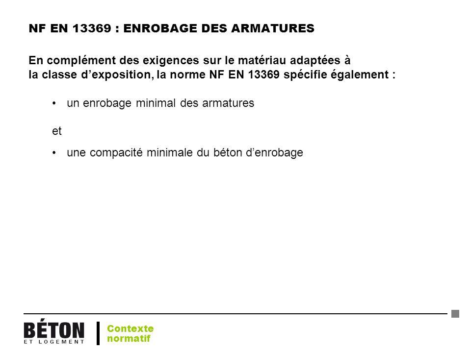 NF EN 13369 : ENROBAGE DES ARMATURES