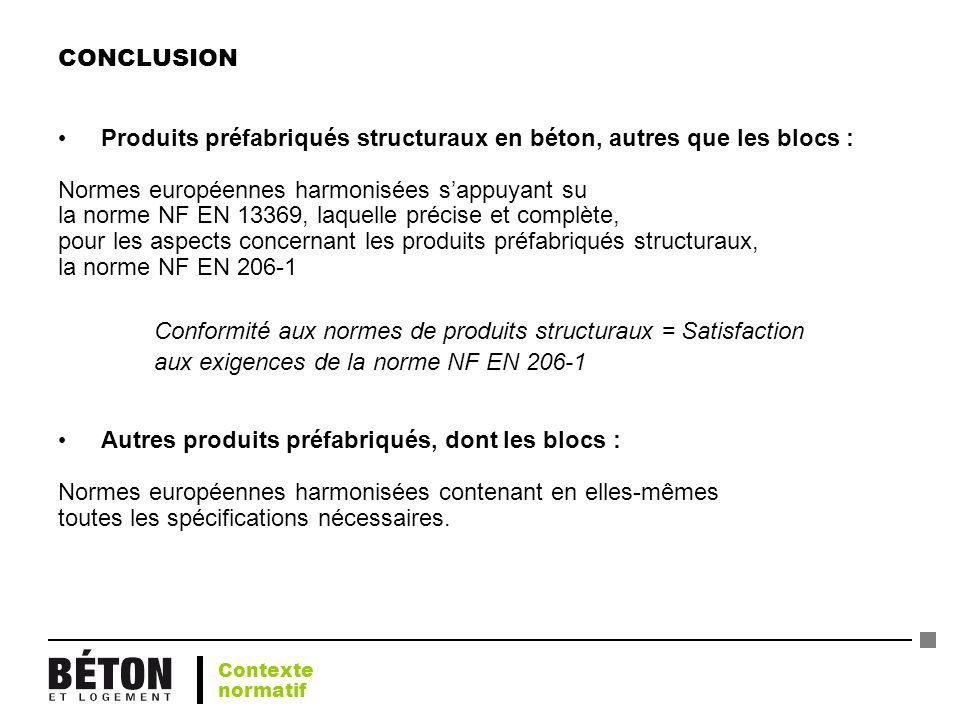 Produits préfabriqués structuraux en béton, autres que les blocs :