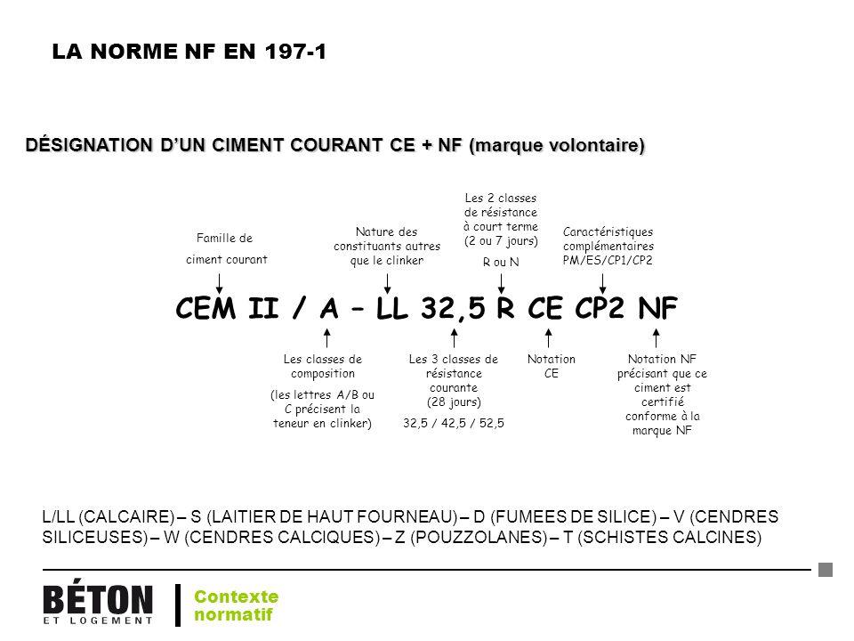 CEM II / A – LL 32,5 R CE CP2 NF LA NORME NF EN 197-1