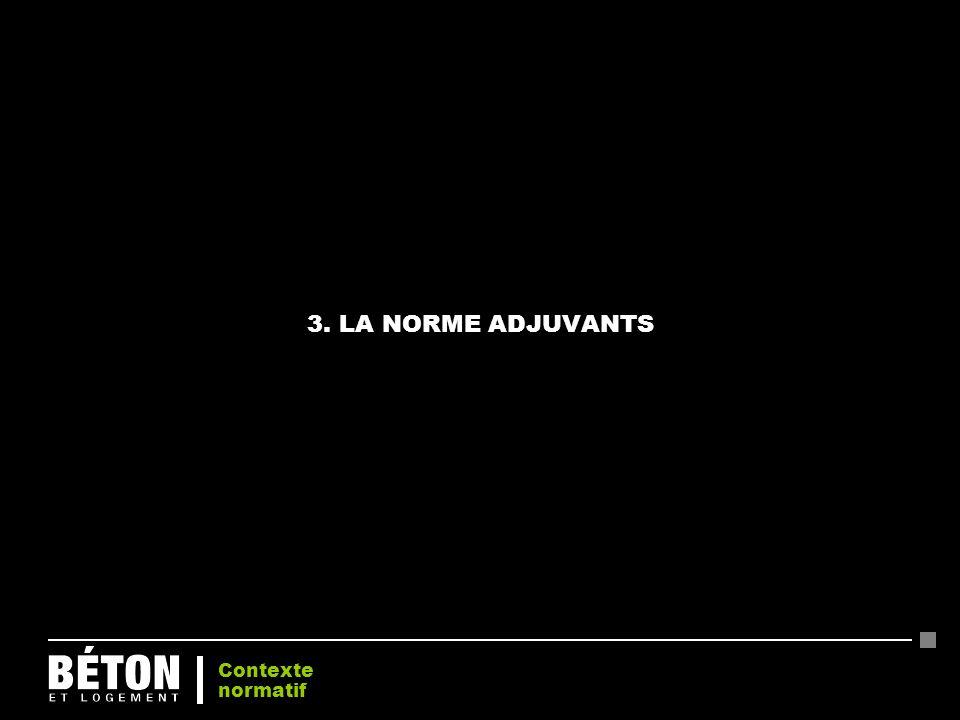 3. LA NORME ADJUVANTS Contexte normatif 20