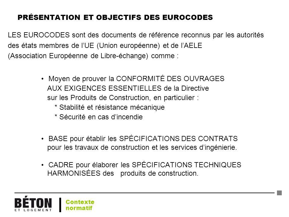 PRÉSENTATION ET OBJECTIFS DES EUROCODES
