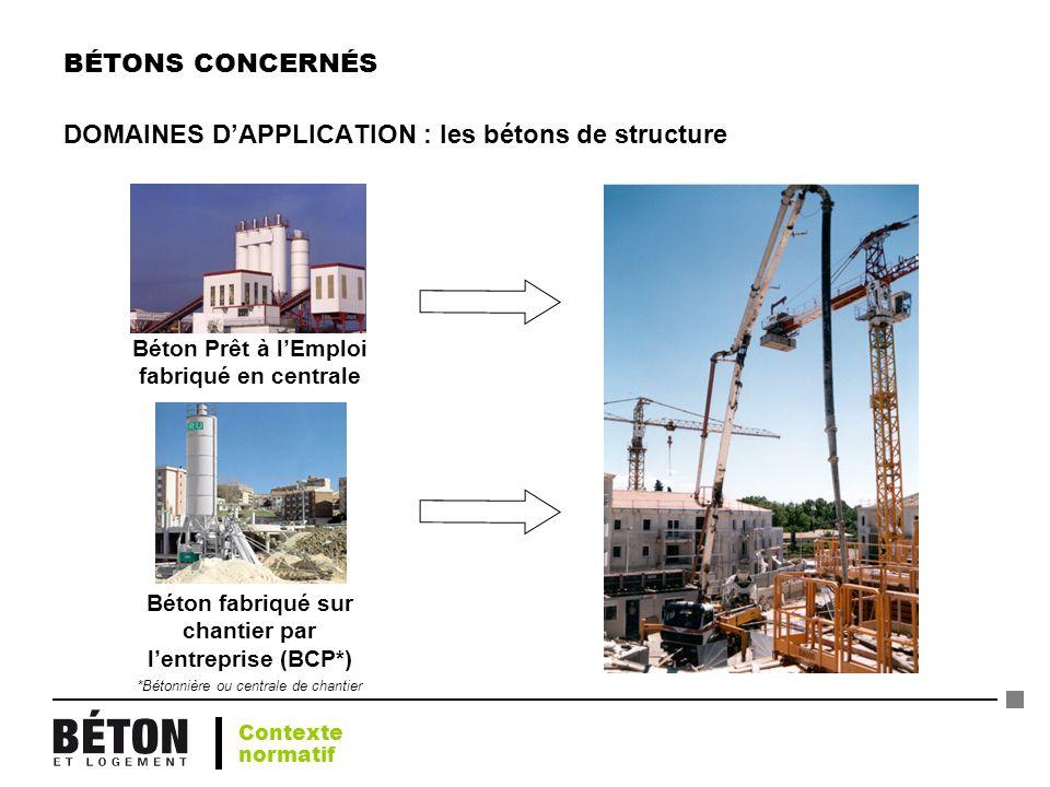 DOMAINES D'APPLICATION : les bétons de structure