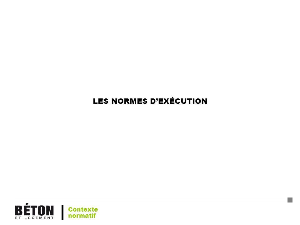 LES NORMES D'EXÉCUTION