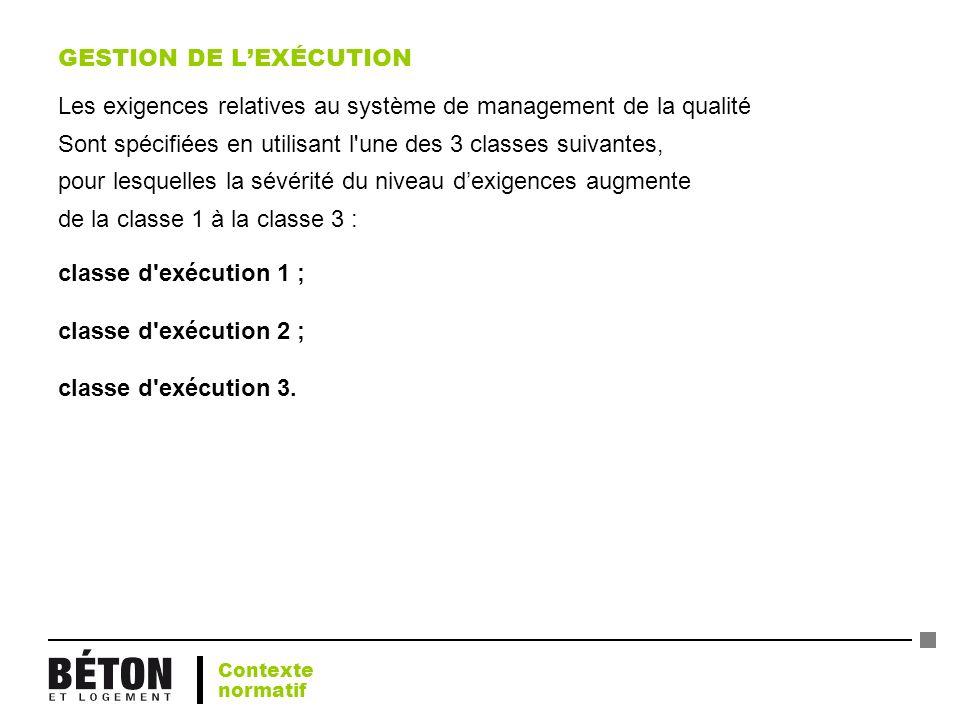 GESTION DE L'EXÉCUTION