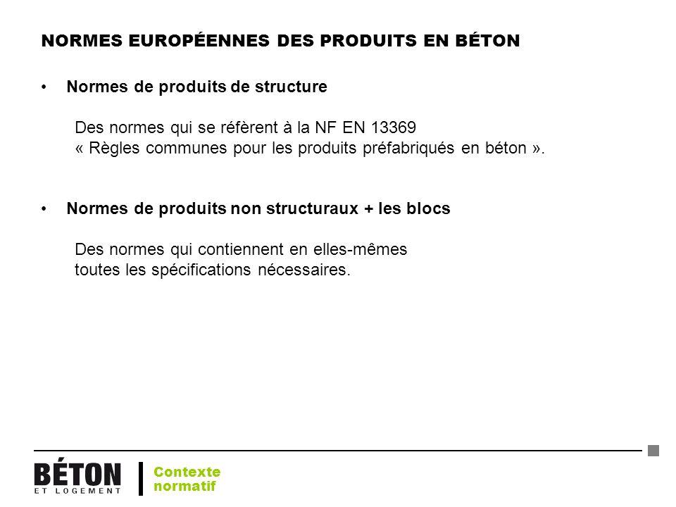 NORMES EUROPÉENNES DES PRODUITS EN BÉTON