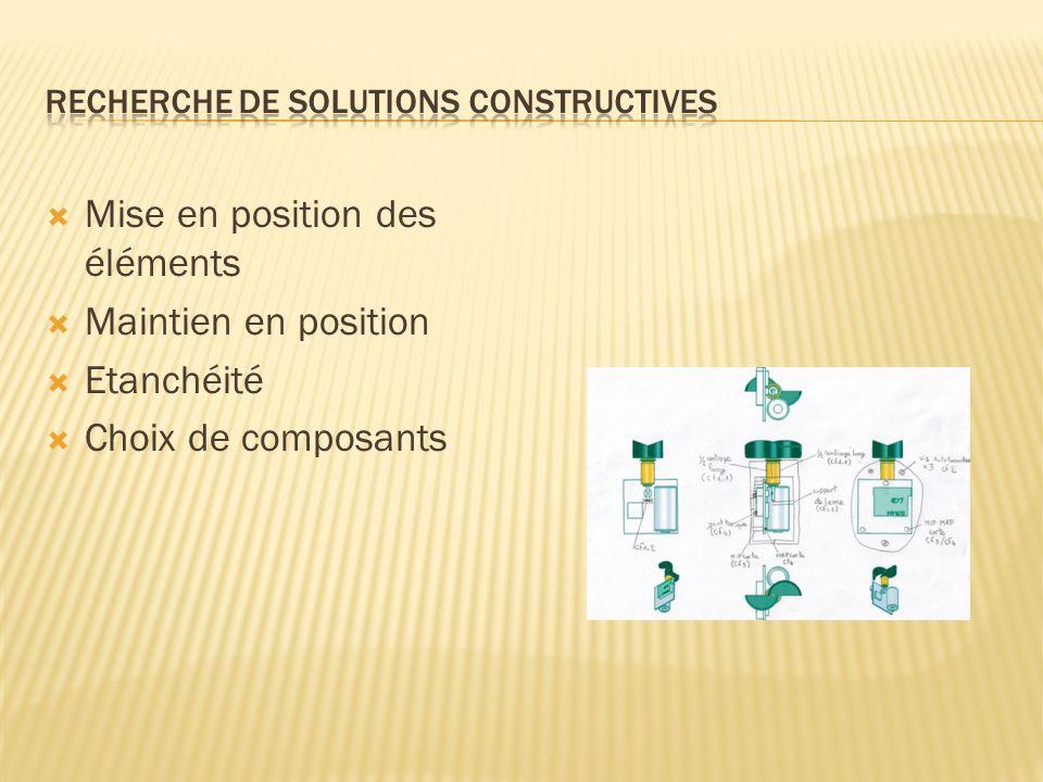 Recherche de solutions constructives
