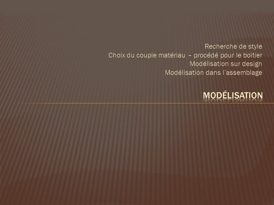 Modélisation Recherche de style