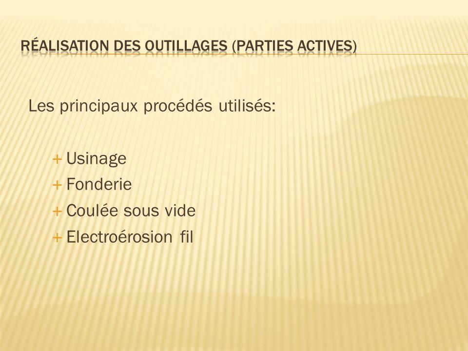 réalisation des outillages (parties actives)