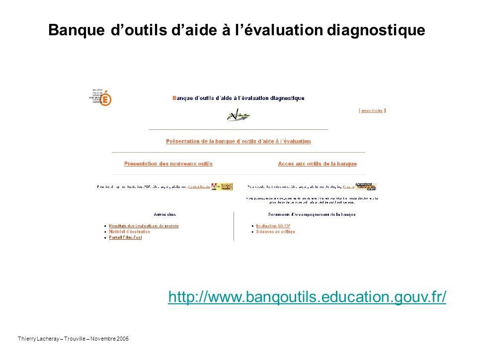 Banque d'outils d'aide à l'évaluation diagnostique