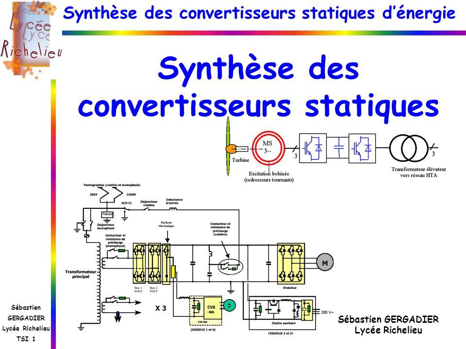 Synthèse des convertisseurs statiques