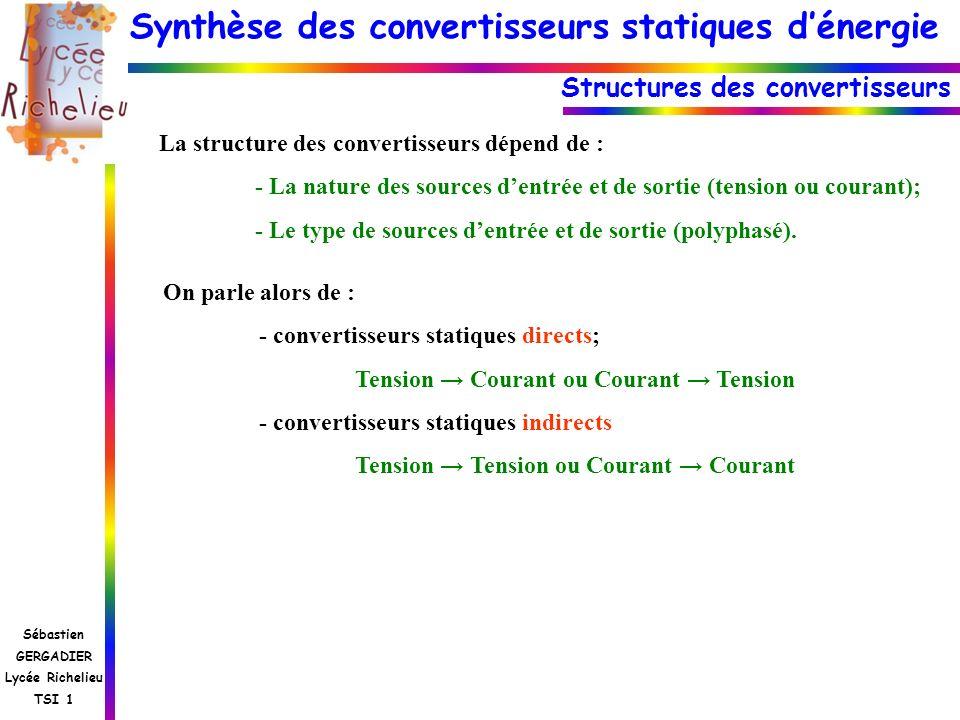 Structures des convertisseurs
