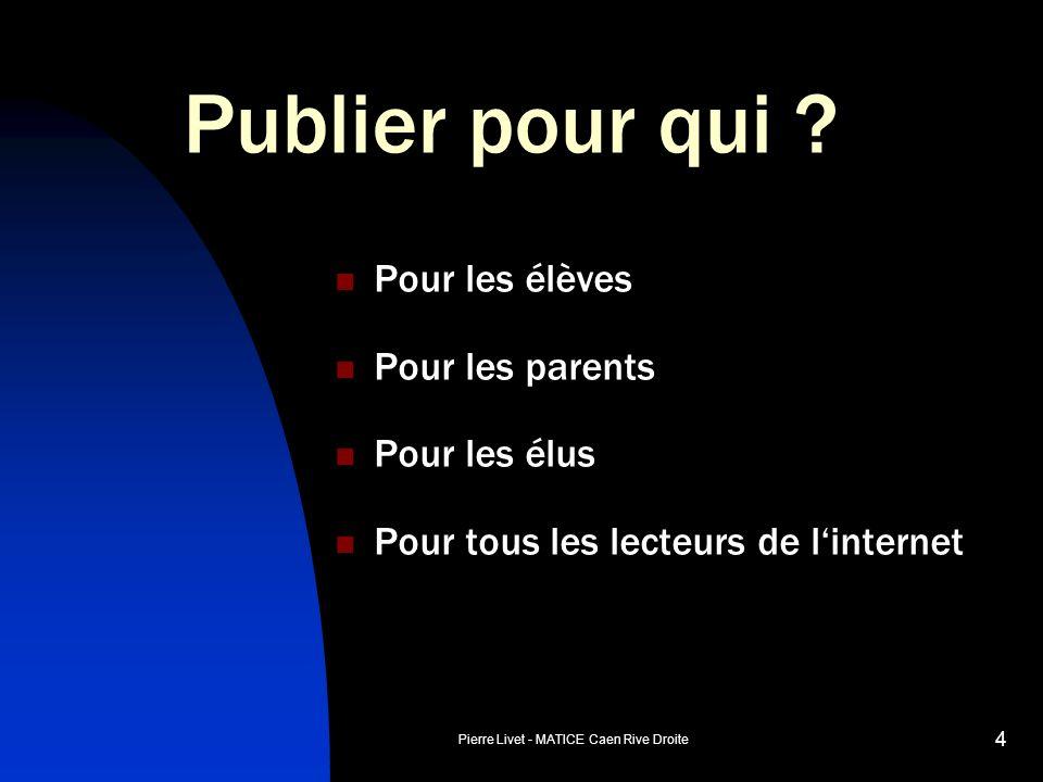 Pierre Livet - MATICE Caen Rive Droite