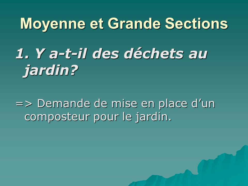 Moyenne et Grande Sections