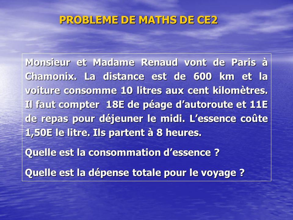 PROBLEME DE MATHS DE CE2