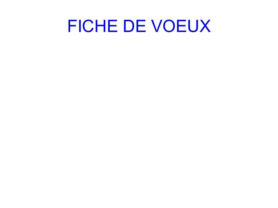 FICHE DE VOEUX