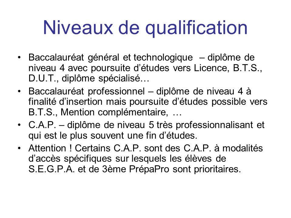 Niveaux de qualification