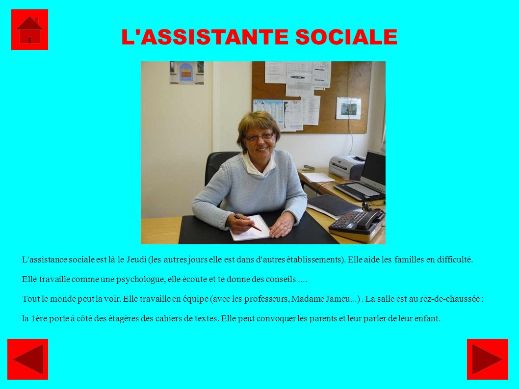 L ASSISTANTE SOCIALE