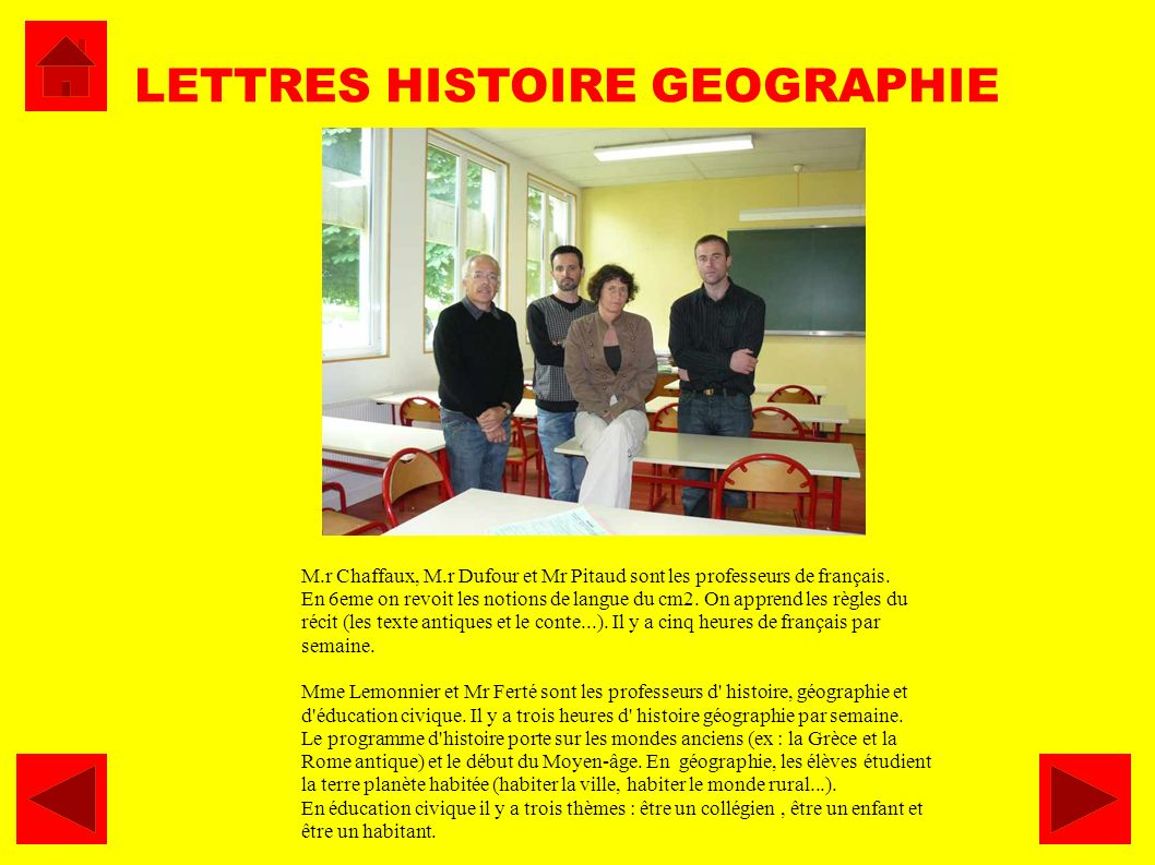 LETTRES HISTOIRE GEOGRAPHIE