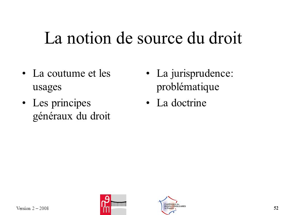 La notion de source du droit