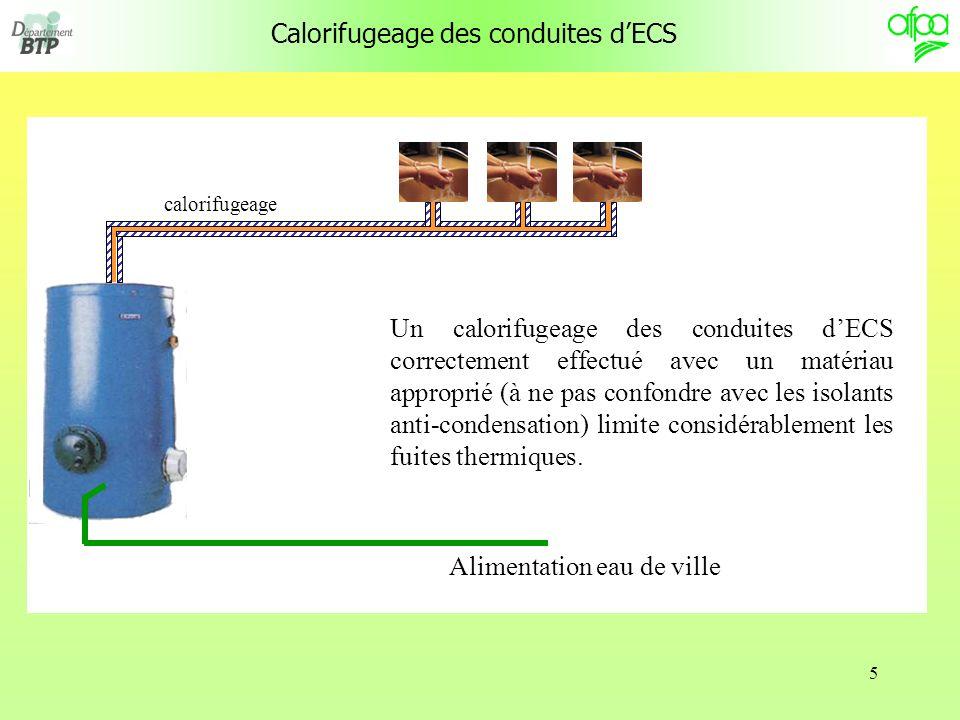 Calorifugeage des conduites d'ECS