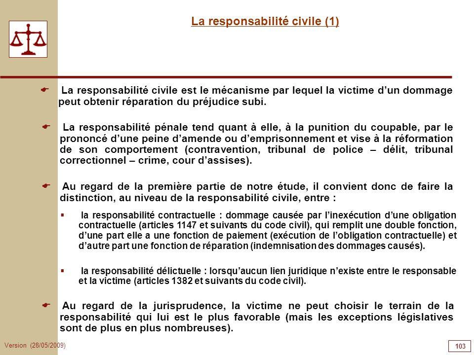 La responsabilité civile (1)