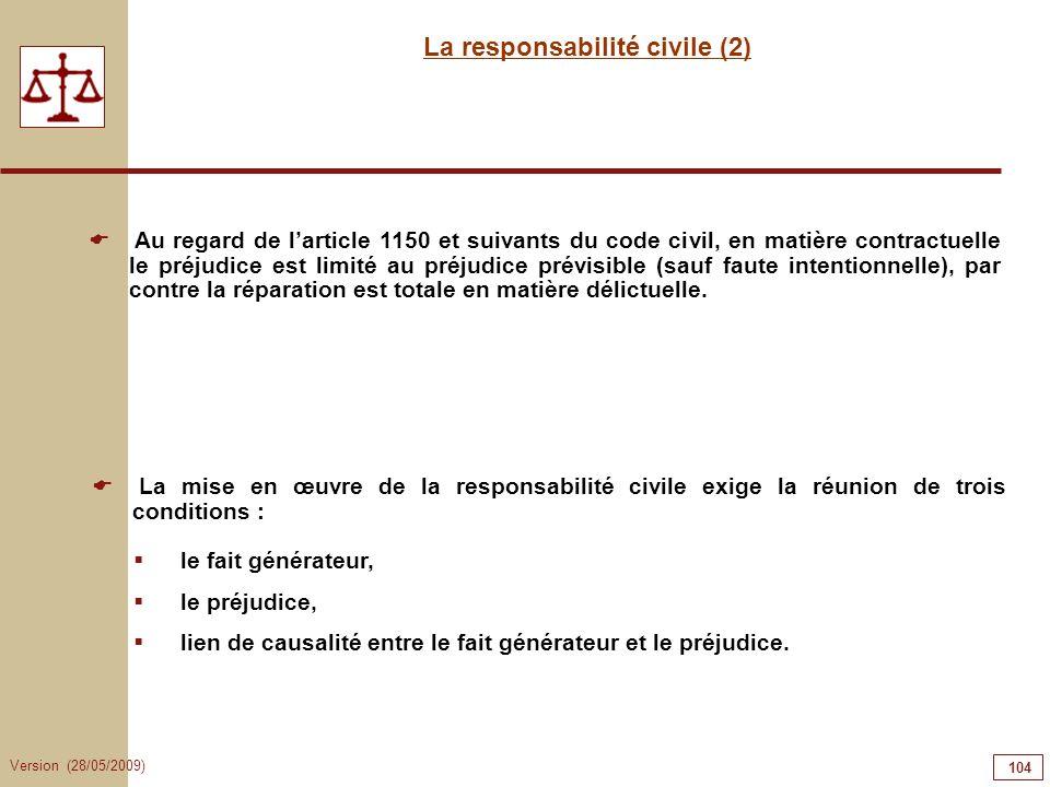 La responsabilité civile (2)