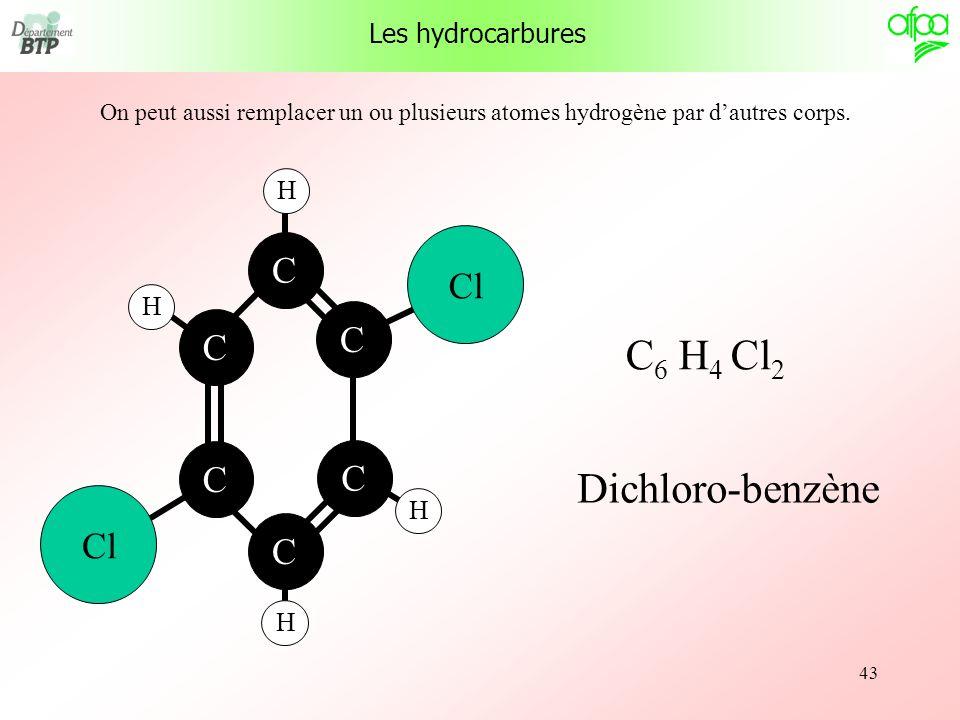 C6 H4 Cl2 Dichloro-benzène Cl C Les hydrocarbures H