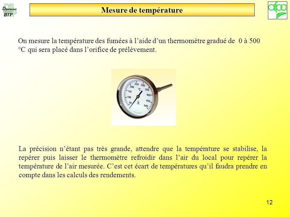 Mesure de température