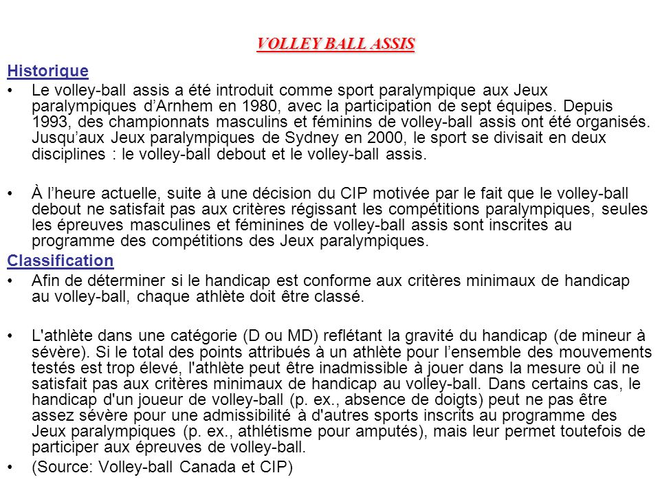 VOLLEY BALL ASSIS Historique