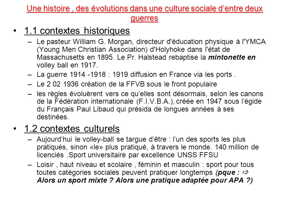 1.1 contextes historiques