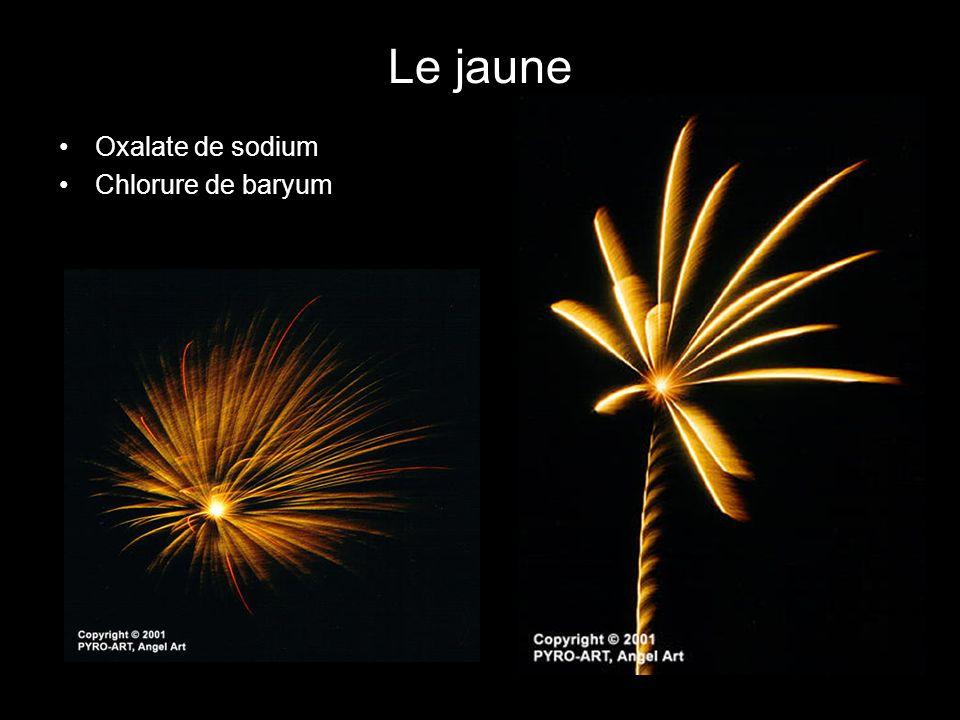 Le jaune Oxalate de sodium Chlorure de baryum