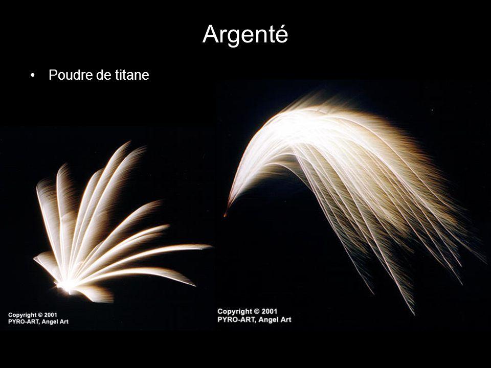 Argenté Poudre de titane