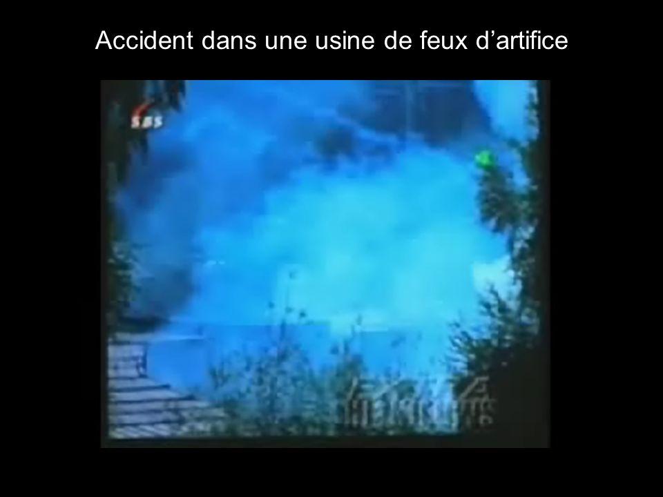 Accident dans une usine de feux d'artifice