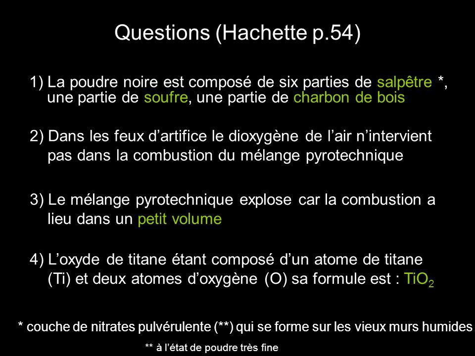 Questions (Hachette p.54)