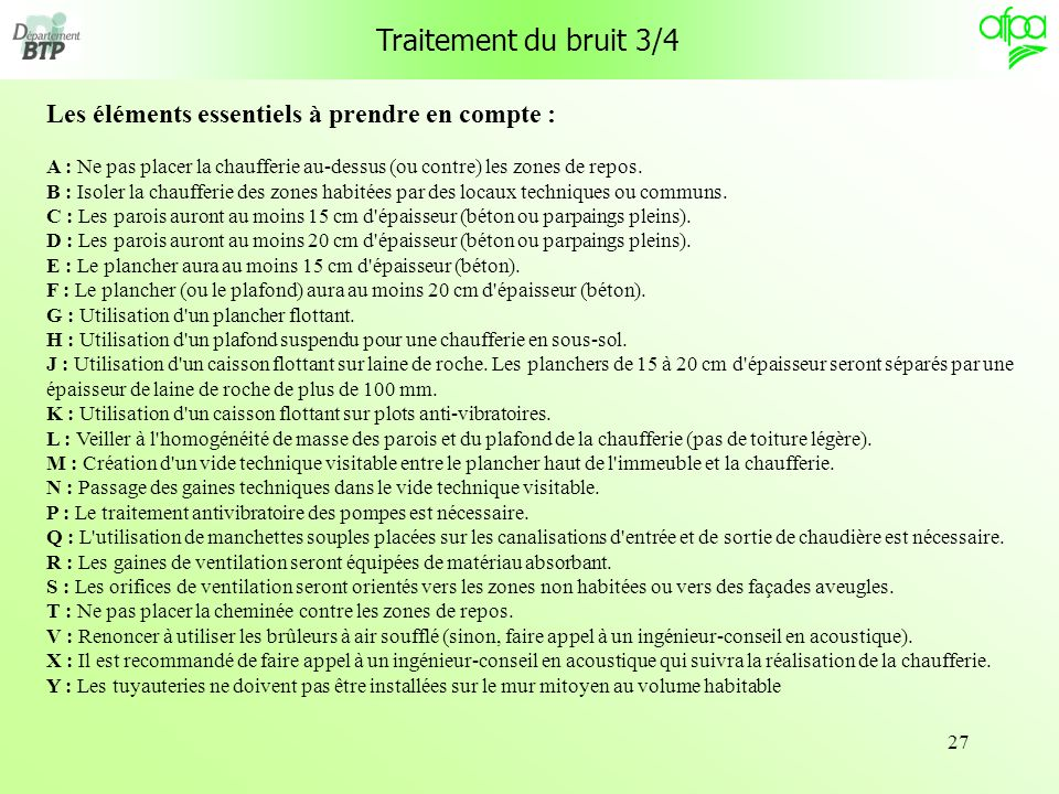 Traitement du bruit 3/4