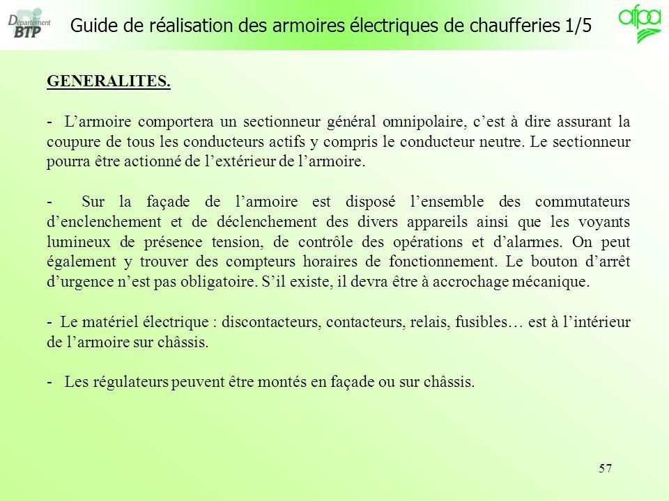 Guide de réalisation des armoires électriques de chaufferies 1/5