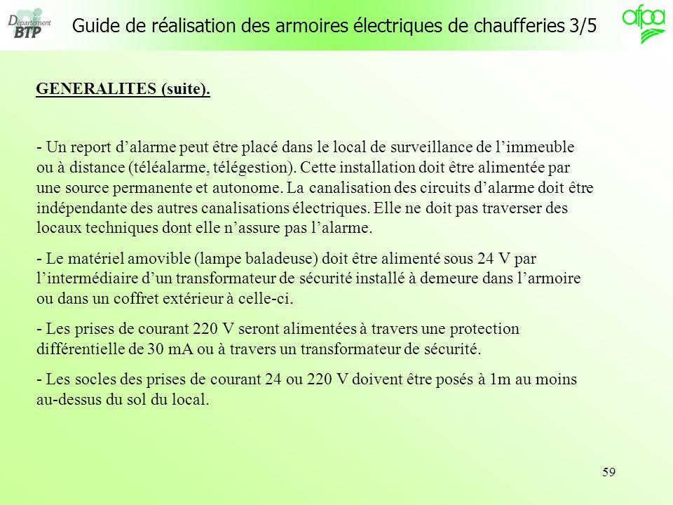 Guide de réalisation des armoires électriques de chaufferies 3/5