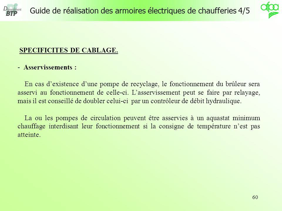 Guide de réalisation des armoires électriques de chaufferies 4/5
