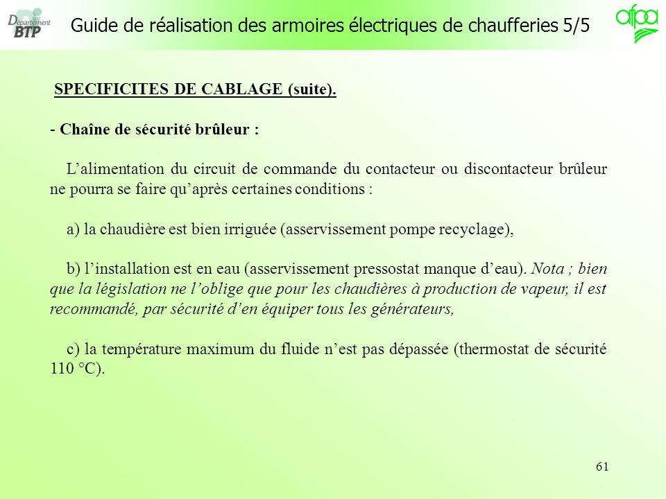 Guide de réalisation des armoires électriques de chaufferies 5/5