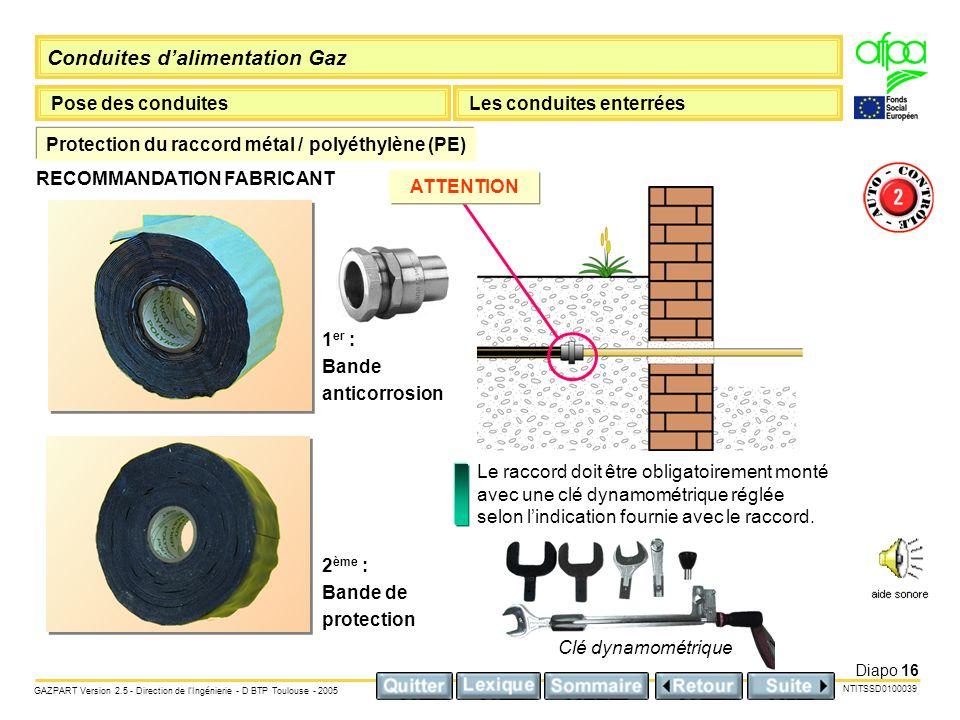 Protection du raccord métal / polyéthylène (PE)