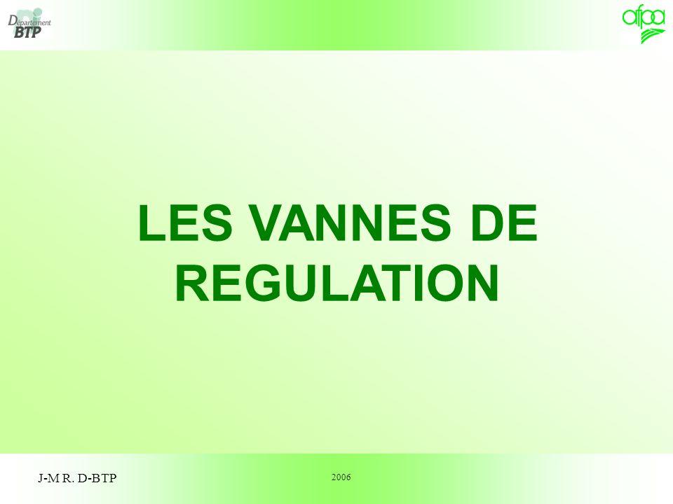 LES VANNES DE REGULATION