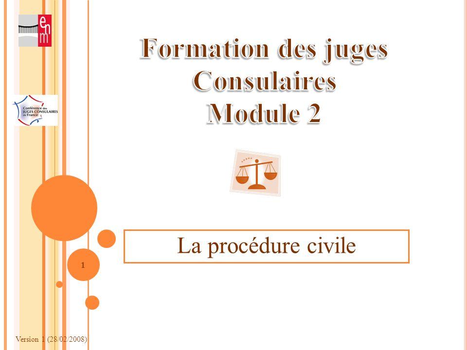 Formation des juges Consulaires Module 2