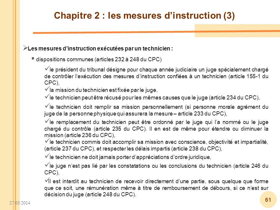 Chapitre 2 : les mesures d'instruction (3)
