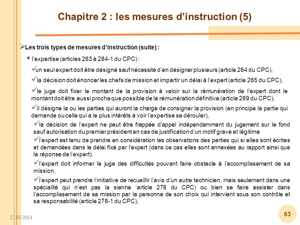 Chapitre 2 : les mesures d'instruction (5)