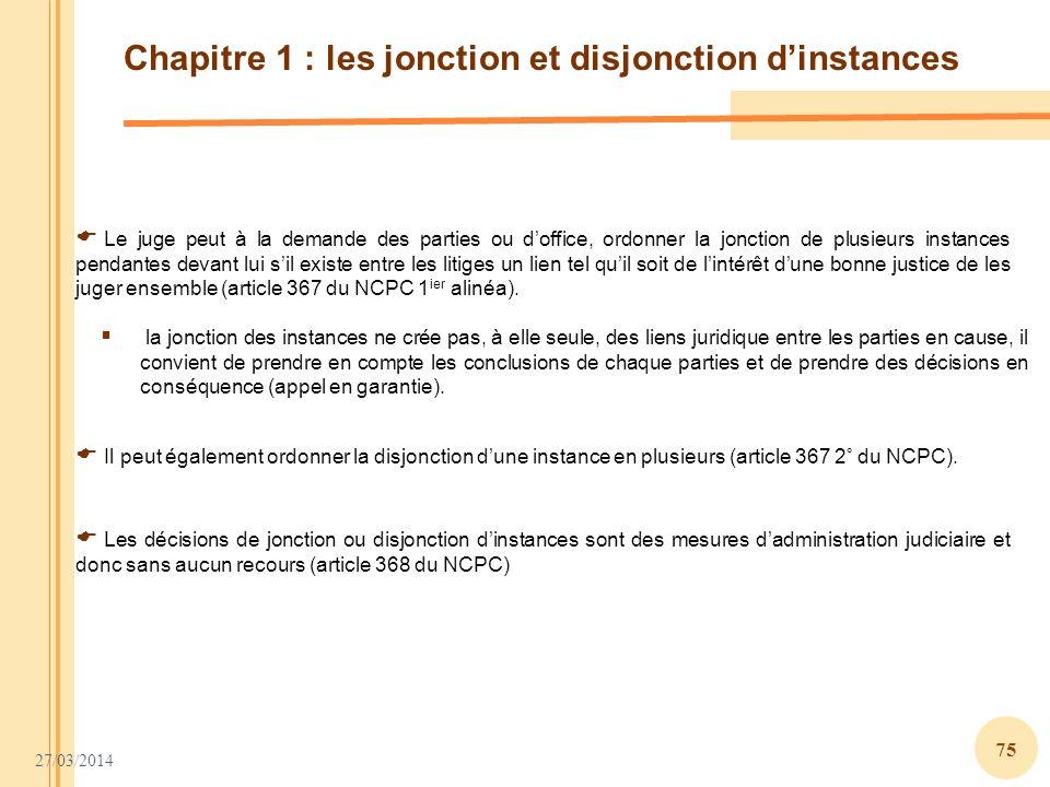 Chapitre 1 : les jonction et disjonction d'instances
