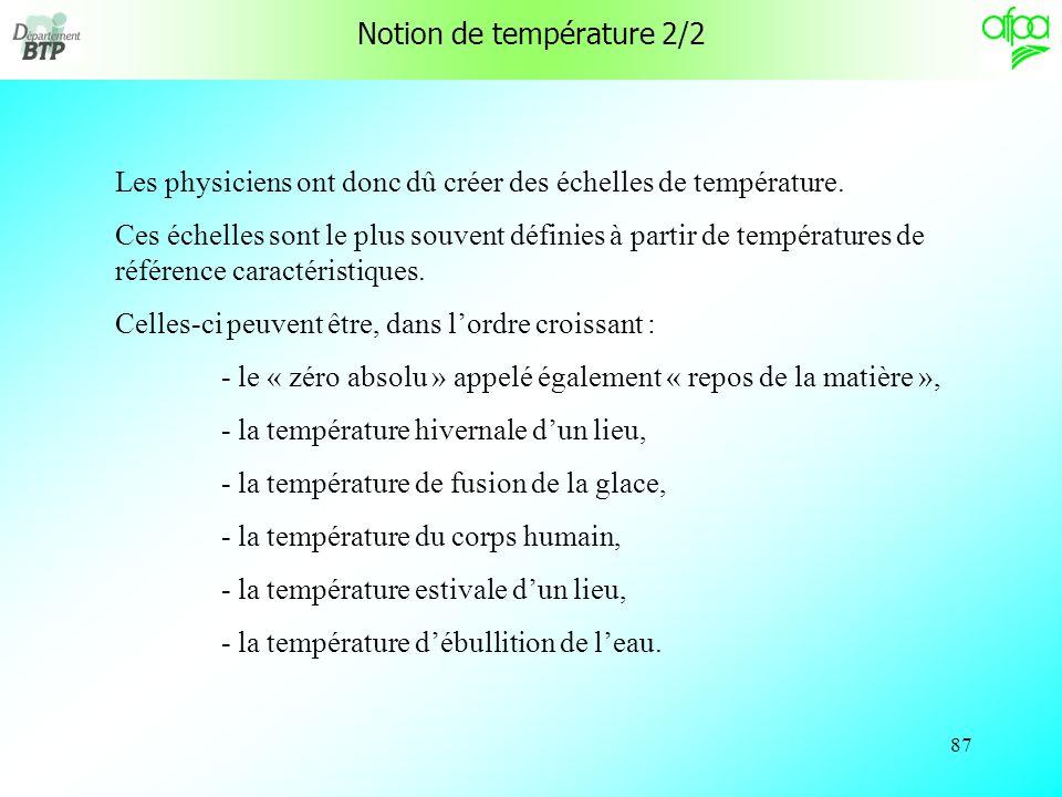 Notion de température 2/2