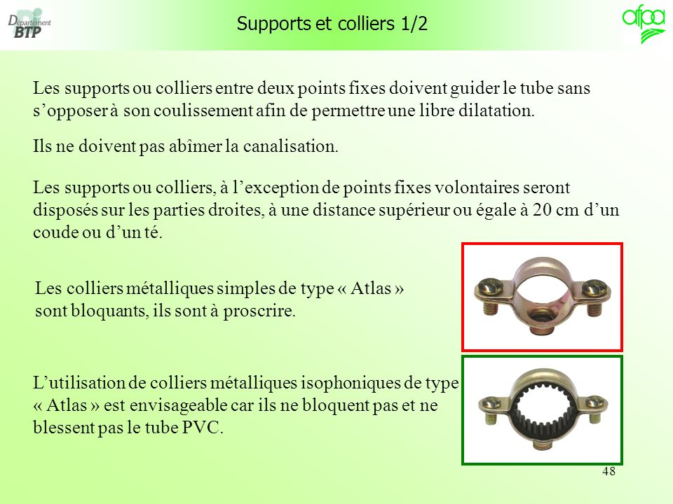 Supports et colliers 1/2